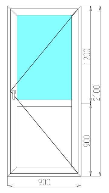 дверь металлическая 2100 900 мм