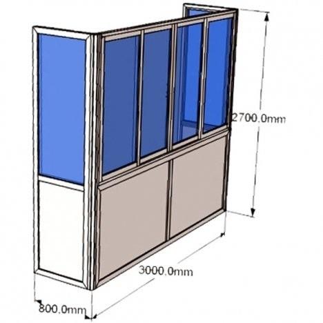 "Балкон ""под ключ"" стекло 4мм пластиковые окна, двери, балкон."
